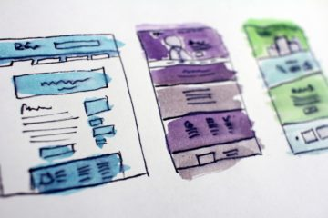 website architecture mockups